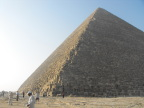 Khufu&s Pyramid at 8:15 AM