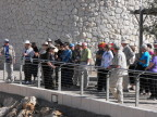Guide Galila describing to our group the giant outdoor model of old Jerusalem at the Israel Musem, Jerusalem