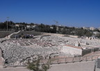 Old Jerusalem, at the Israel Museum. The original City of David is the small strip in front. The Temple Mount is to its right.