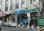 Beverage shops in Jerusalem on our way to Bethlehem