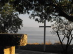 The Cross in a  simple chapel overlooking the Sea of Galilee at Capernum
