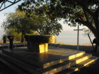 This simple chapel overlooks the Sea of Galilee at Capernum