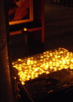 Candles lit at the Church of the Beatitudes, at the supposed site of the Sermon on the Mount