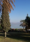 The Sea of Galilee from the lawn of the Church of the Beatitudes, Capernum