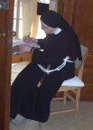 An administrator-nun in the Church of the Beatitudes, Capernum