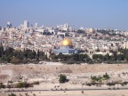 The Dome of the Rock dominates the view of the Old City from Mount Scopus