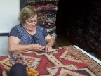 Weaving a rug in Tel Aviv