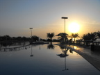 Sunset at Dead Sea resort