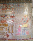 Delicate colors have persisted for millenia at Hatshepsut Temple