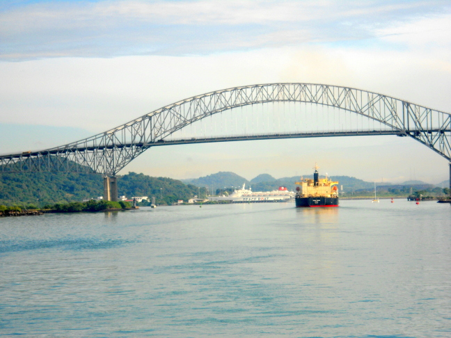 Bridge of the Americas — The only automobile route crossing the Panama Canal