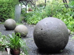 In the National Museum, San Jose, Costa Rica - no one knows how early peoples carved these perfect stone spheres
