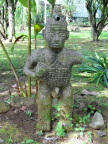Pre-Columbian statue on grounds of Sarapiqui Lodge