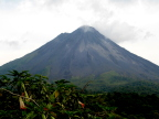 Arenal Volcano is active - erupted in 1968, 1991, 2001.  Our hotel is right below the lava flows.