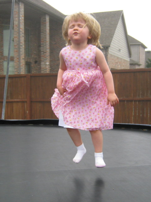 Groovin' on the trampo, Lindsay age 3
