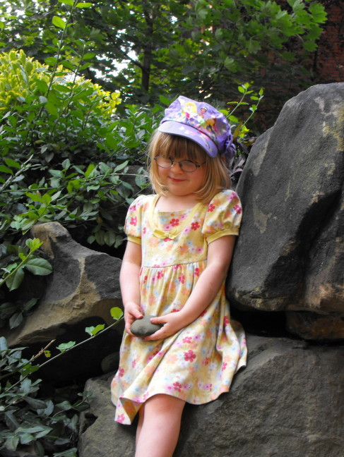 Lindsay visits her grandma's garden in Pittsburgh, Age 4