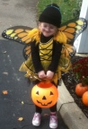 Busy bee Lindsay ready for Halloween, 2012