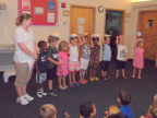Graduating from pre-school, Lindsay stands out