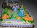 Fifth brithday cake; all princess, all the time