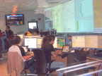 The ATLAS control center at CERN is behind glass