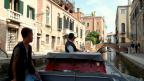 Porters transporting us and our luggage to our B&B in Venice. The only taxis in Venice are water taxis.