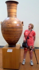 Susan admires an ancient funerary urn