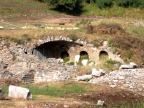 Remains of the old Roman aqueduct in Ephesus
