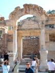 The Memmius Monument, Ephesus. The inner arch depicts Medusa and her snakes
