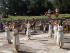 "Egyptian dancers in the ""spectacle"" staged by Norwegian Cruise Lines in Ephesus.  Also gladiators, soldiers, musicians"