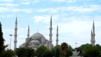 The Blue Mosque and its six minarets, Istanbul. The more minarets, the greater degeree of social services the mosque offers.