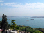 Panorama of the Golden Horn from  patio of the Topkapi Palace, Istanbul