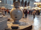 Huge urn for drinking water inside Hagia Sophia, Istanbul