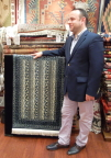The rug merchant makes his pitch in Istanbulan
