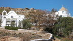 Hillside overlooking the beach, Mykonos