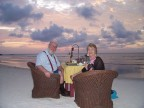 Supper on the sand in Aruba
