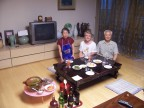 Prof. Lee graciously treats us to a home-cooked meal in Seoul, Korea