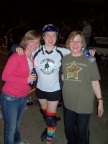 With Rebecca at one of her Roller Derby matches