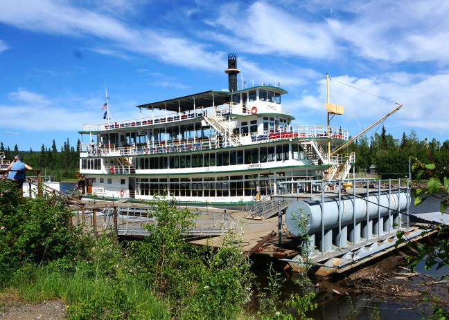 Riverboat Discovery, Fairbanks AK, and its drydock made from sections of the Alaska pipeline