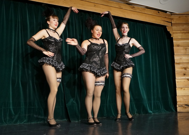 Dancing at the Frantic Follies. The entire cast is from the Whitehorse area.