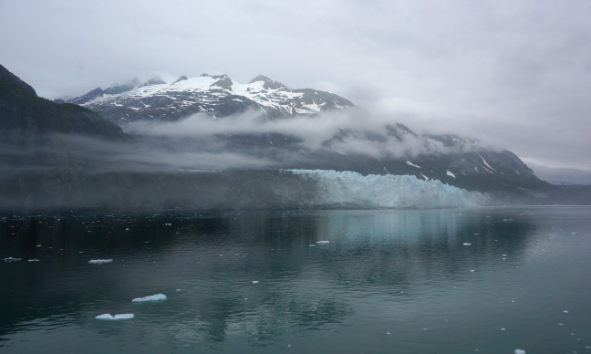 Our cruise ship appraoches The Margerie Glacier in Glacier Bay National Park