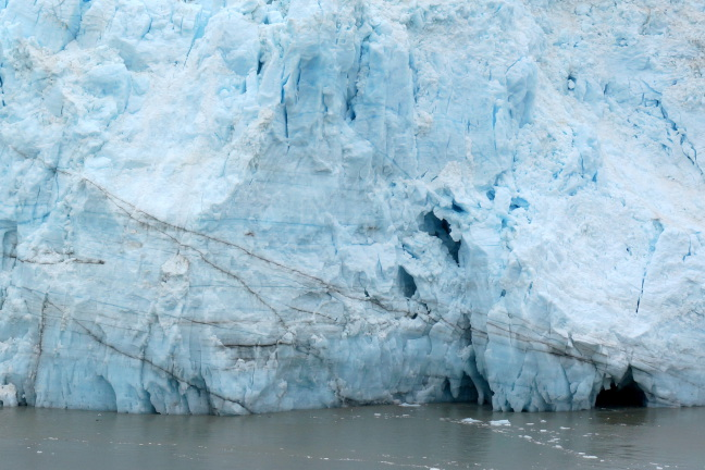 Ice caves in Margerine Glacier