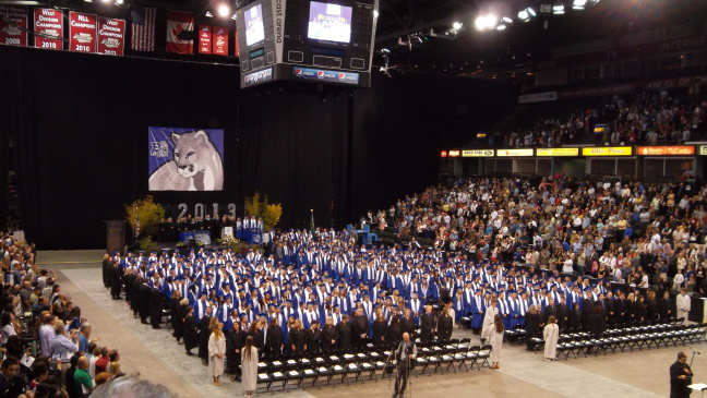 The Bothell Cougars graduate in the Comcast Arena, Everett, WA
