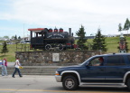 Old time engine for the Alaska Railroad (Anchorage to Fairbanks via Denali)