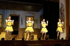 Super tap dancers in black fishnets