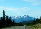 On the road from Whitehorse to the Whitepass Route Railroad to