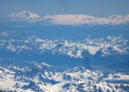 View of glaciers in the Alaska Range as we flew fromSeattle to Anchorage