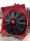This is the snowplow for the White Pass Railroad train