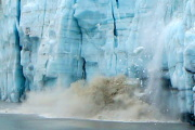 Calving creates a big splash at Margerie Glacier