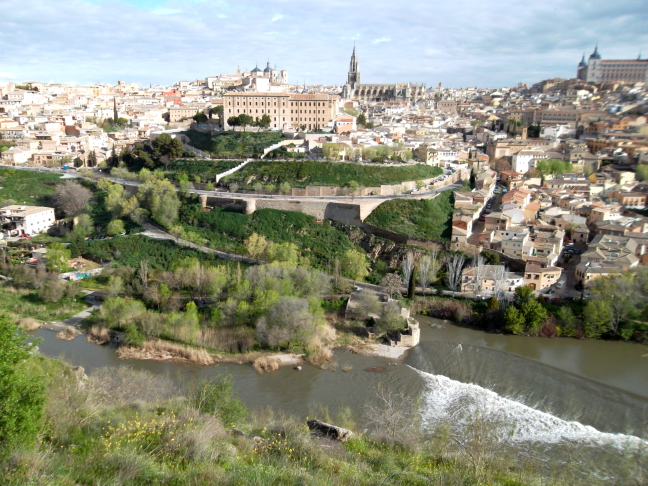 View of Toledo across Tagus River, made famous by El Greco painting