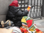 Street person, Madrid - victim of ongoing economic crisis