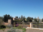 View of Alhambra from Generalife Gardens